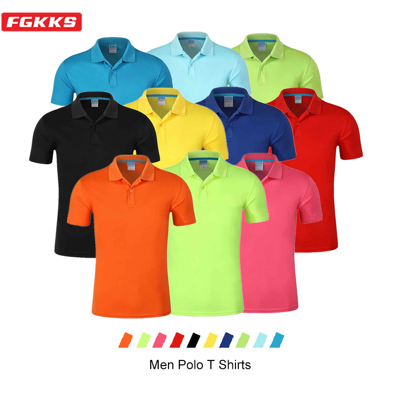 FGKKS Casual Brand Men Polo Shirts Tops Summer New Men's Solid Color Wild Polo Shirt Fashion Slim Fit Polo Shirt Male