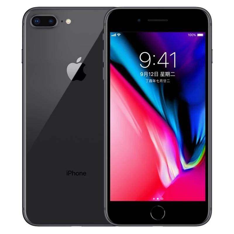 Оригинальный Яблоко iPhone 8 Плюс Гекса ядро иос 3 ГБ оперативной памяти 64-256 ГБ ПЗУ 5.5-дюймовый 12-мегапиксельный отпечатков пальцев 2691mAh ЛТР мобильного телефона