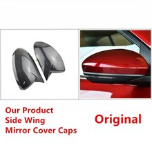цена на For Nissan Sylphy Sentra B18 2020 Replacement Real Carbon Fiber Look Car Side Mirror Covers Rearview Caps