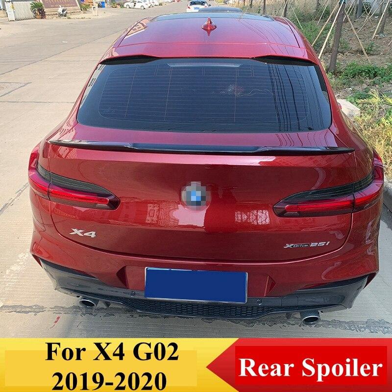 UBUYUWANT Gloosy Черный задний багажник спойлер для BMW X4 G02 2019 2020 Спойлер ABS автомобильное украшение в виде хвостового крыла автомобильные аксессуар...