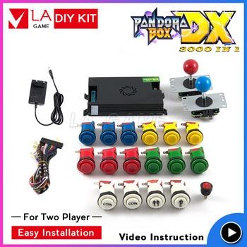 pandora box arcade cabinet diy arcade for 2 player pandora box dx 3000 sanwa joystick happ type button 3p 4p game inside pandora s box