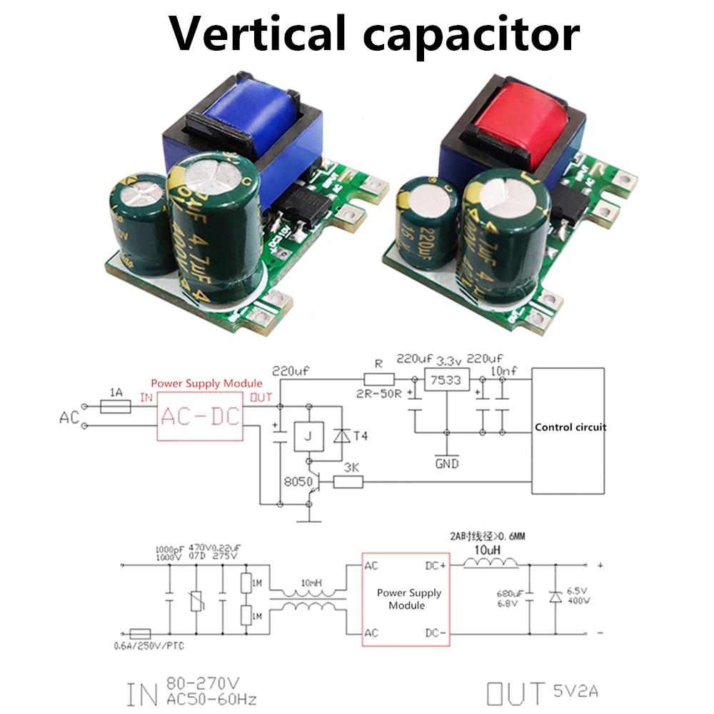 AC-DC 5V 700mA 12V 450mA 9V 500mA 3.5W Precisie Buck Converter Ac 220V Om 5V Dc Step Down Transformator Voeding Module 4