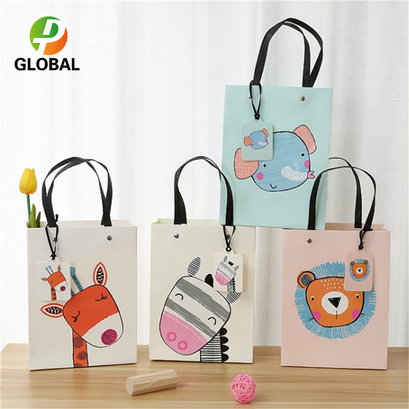 D & P 50pcs papier sac main cadeau sac mariage cadeau sac fête d'anniversaire papier sac fourre-tout peut être Customiz 18*23*10 cm/26*32*12.7 cm - 5