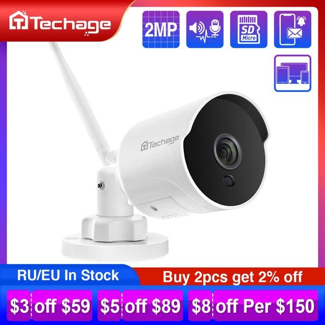 1080P 2MP كاميرا IP لاسلكية الأشعة تحت الحمراء للرؤية الليلية اتجاهين الصوت سجل P2P Onvif فيديو الأمن واي فاي كاميرا مراقبة CCTV في الهواء الطلق