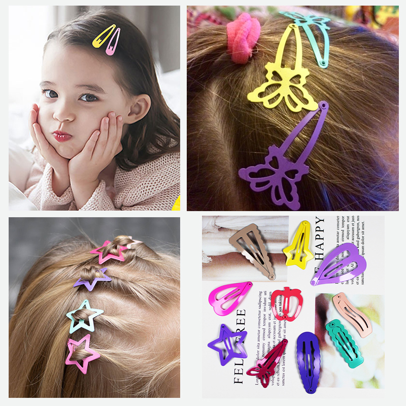 13 Sets Cute Girls Hair Clips For Hair Clip Pins BB Hairpins Color Metal Barrettes For Baby Children Girls Styling Accessories