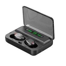 F9 TWS True Wireless Earbuds Bluetooth Earphones Mini LED Display 1200mA Power Waterproof 5D Stereo for All Smart Phone