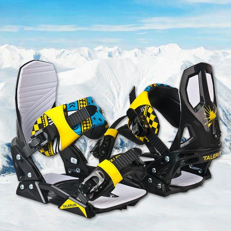 Ski-Board Bindings Skiing Adult Professional with Buckle-Strap Lightweight Adjustable
