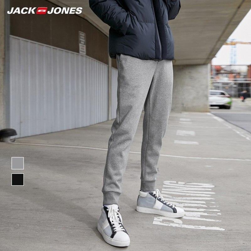 JackJones Men's Inner Fleeced Stretch Jogger Pants Slim Fit Sports Sweatpants Men's Fitness Trousers 219314556