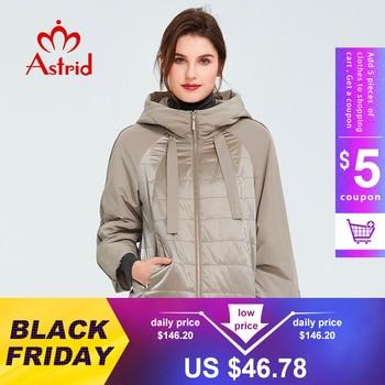 Astrid 2020 printemps manteau femmes Outwear tendance veste courte Parkas décontracté mode femme de haute qualité chaud mince coton ZM-8601 1