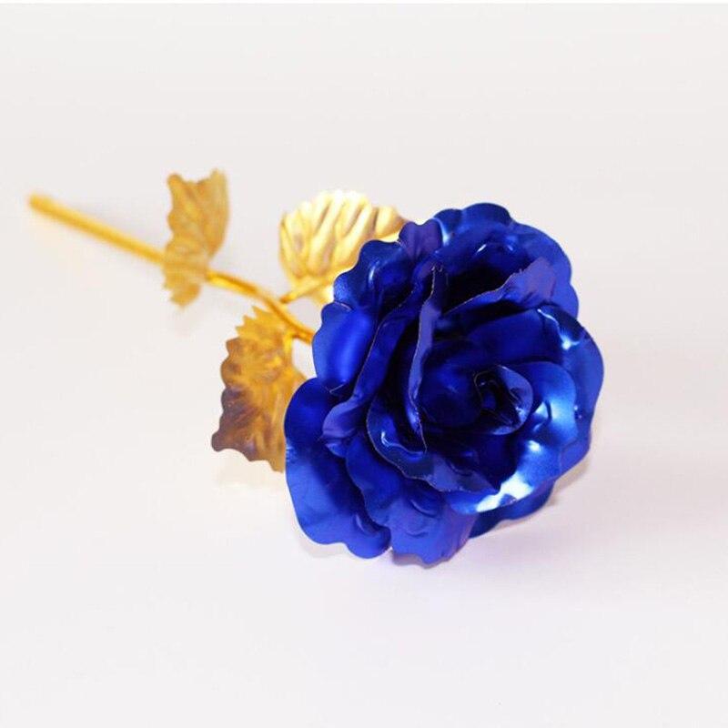 Креативный подарок Роза эмуляция цветок 24 к Золотая фольга Роза подарок на день Святого Валентина одиночный позолоченный букет розы коробка Золотая фольга цветок - Цвет: Only Flower 02