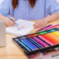 24/36/48/72 cor lápis colorido oleoso conjunto pintura a óleo suprimentos da arte para escrever desenho esboço lapis lazuli arte suprimentos|  -