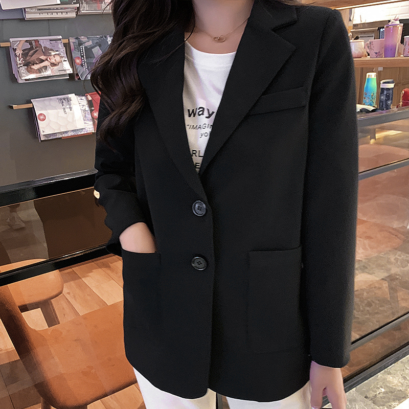 2019 New Women's Jacket Small Suit Autumn Fashion Loose Long Sleeve Single Breasted Ladies Suit Blazer Female Office Jacket Top