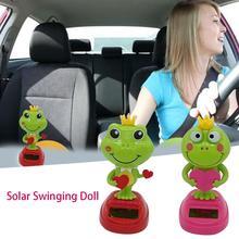 Araba Aksesuar Солнечная качающаяся голова кукла качающаяся лягушка украшение автомобиля мультфильм автомобиль кукла автомобиль интерьерные аксессуары детские игрушки подарок