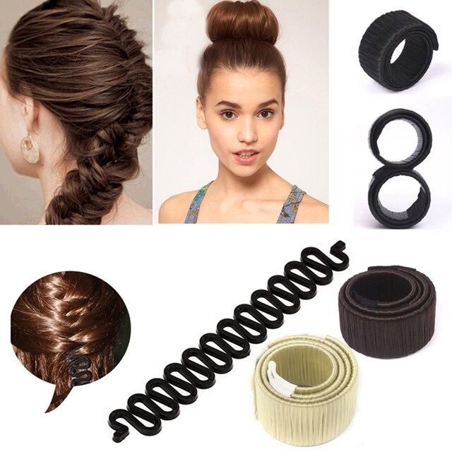 Beignet en mousse magique pour femmes | Fait de chignon, épingles à cheveux, bricolage, outils de tressage, accessoires pour cheveux bandeaux
