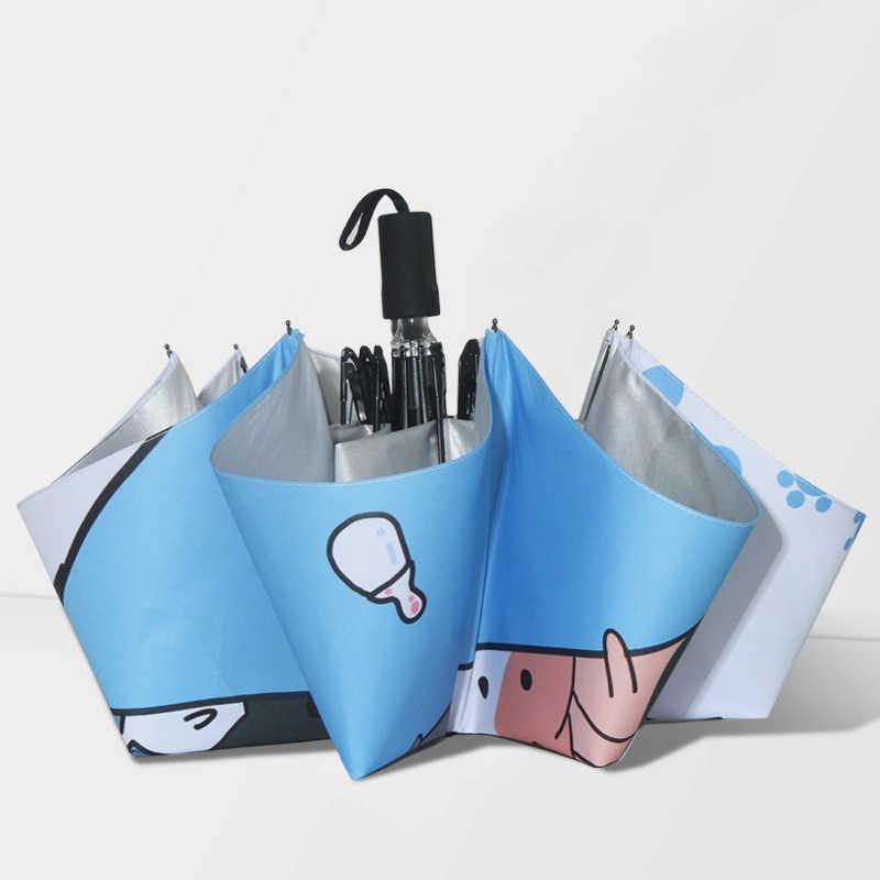 Кошка прекрасный креативный мультфильм зонт от солнца; зонт Анти-УФ солнцезащитный подарок Кошачий коготь Зонты Водонепроницаемый портативный детский зонт
