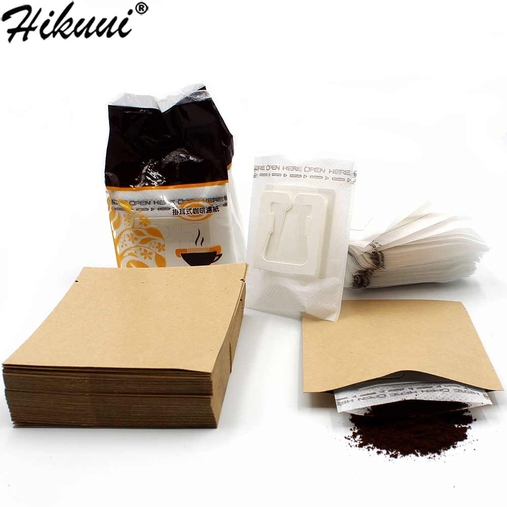 50/100/200 Set Combination Coffee Filter Bags And Kraft Paper Coffee Bag,Portable Office Travel Drip Coffee Filters Tools Set