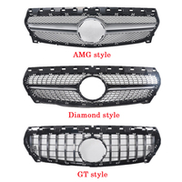 For Mercedes Benz CLA W117 W118 Middle grille ABS plastic Diamond GT AMG front grille vertical bar