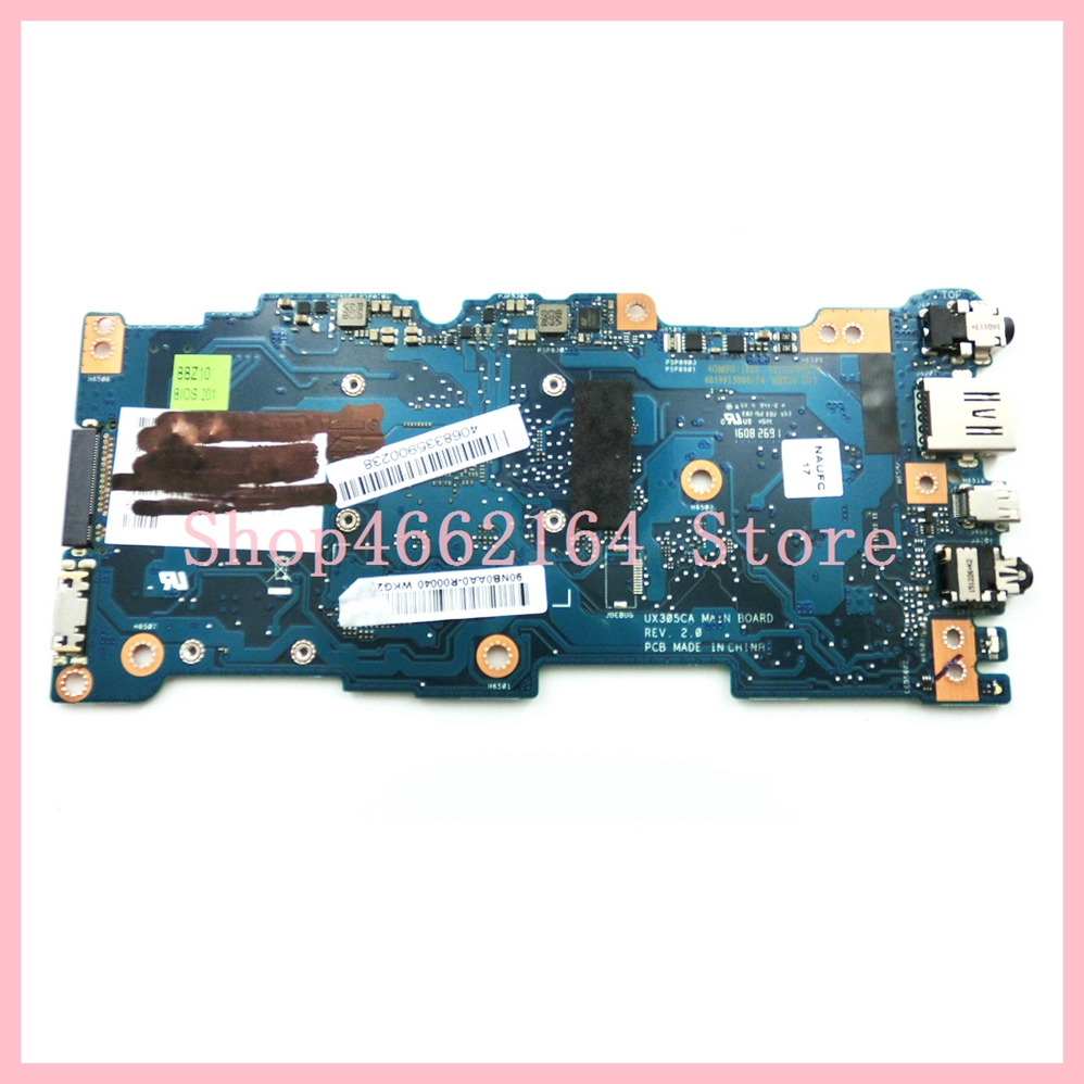 Image 2 - UX305CA mainboard M3 6Y30 CPU 8GB RAM REV 2.0 For ASUS UX305C UX305CA Zenbook motherboard 90NB0AA0 R00040 Tested OK-in Laptop Motherboard from Computer & Office