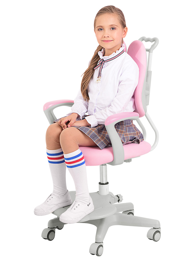 Children's Study Chair Primary School Home Desk Office Adjustable Lift Seat Back Chair Writing Chair Stool