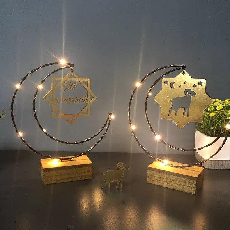 Eid Al Adha Lambs Eid Mubarak Decor Crescent Moon Ramadan Light Home Decoration Islamic Muslim Holiday Decoration Ramadan Sheep