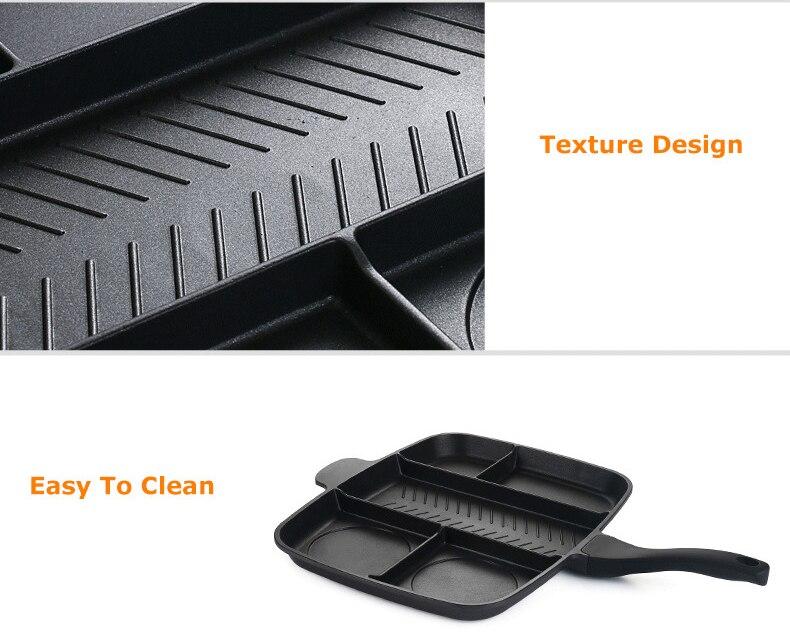 15 polegadas dividida grill pan para multi-purpose
