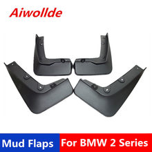 Car Mudflaps For BMW 2 Series Active Tourer (F45) 2014-2017 Splash Guards Mud Flap Mudguards Fender(China)