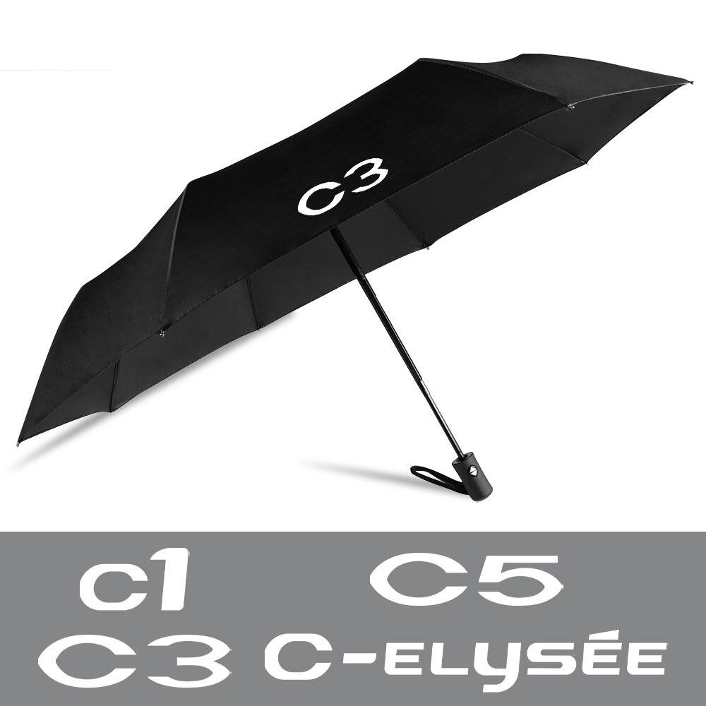 Totalmente automático compacto dobrável guarda-chuva para citroen c4 cacto picasso c5 c1 c2 c4l c6 c8 vts C-ELYSEE acessórios do carro