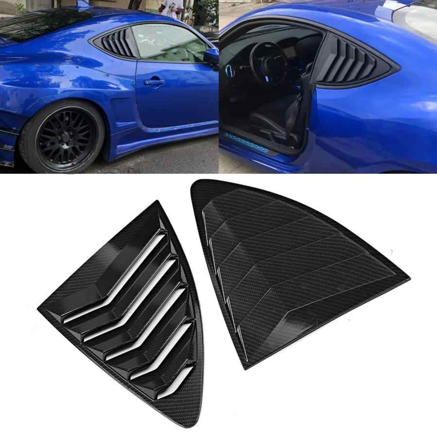Rear Window Louvers,2pcs ABS Rear Window Louvers Side Spoiler Panel Side Window Louvers Fit for Toyota 86 GT86 2013-2019 Car Accessory