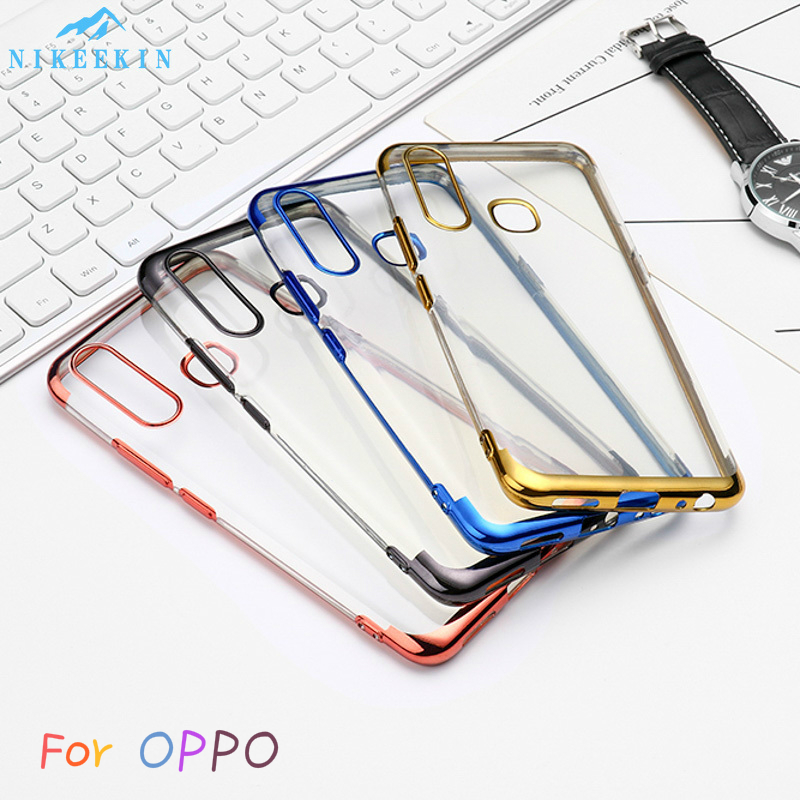 Clear Silicone <font><b>Plating</b></font> Case For <font><b>OPPO</b></font> R17 R15 Pro R15X R11S R9S Plus Soft <font><b>TPU</b></font> Cover For <font><b>OPPO</b></font> <font><b>Reno</b></font> 10X ZOOM <font><b>Reno</b></font> Z Ace Reno2 F Z image