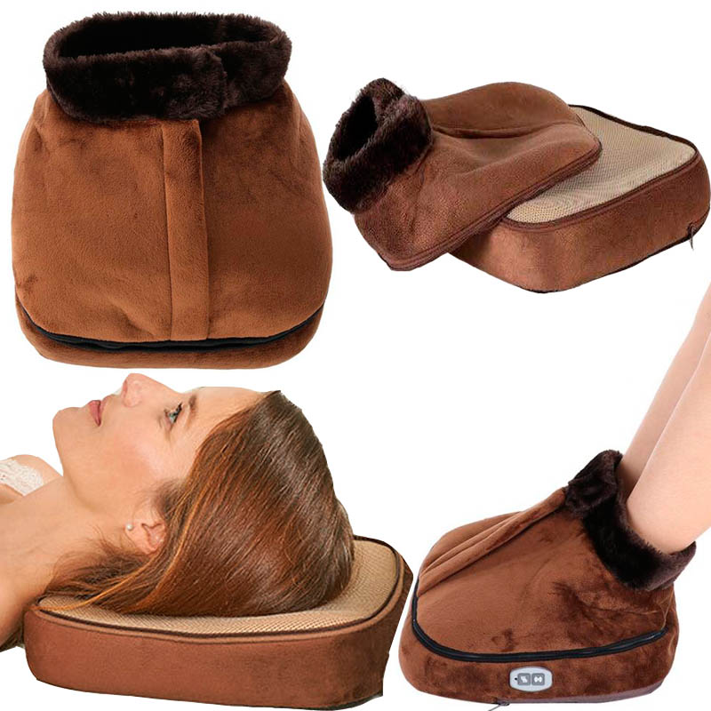 US EU Electric Heated Foot Care Warmer Heater 110 220V Unisex Feet Warmer Massager Big Slipper Foot Heat Warm Massage Shoes