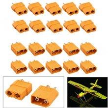 цена на 1 Pair XT60 XT-60 Male Female Bullet Connectors For RC Lipo Battery Connector Set Male Female Gold Plated Banana Plugs