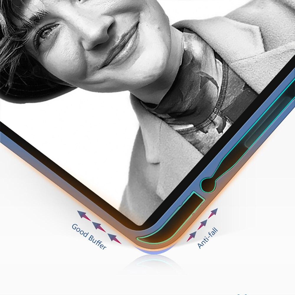 with Pencil-Holder Generation-Multi-Fold Silicone Funda Pro For Wake-Face-Id Cover PU Capa iPad