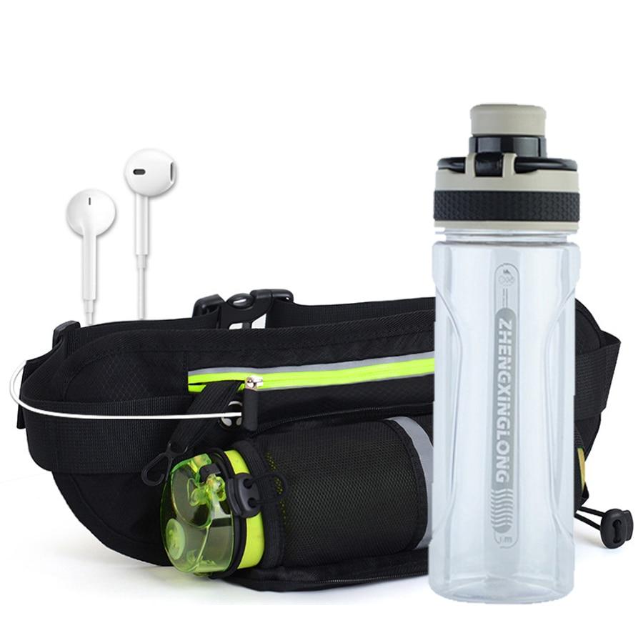 Running Waist Belt Bag Marathon With Water Bottle For 4.8-6.6 Inch Phone Sports Trail Running Bag Men Women Fanny Pack