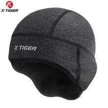 X-TIGER Man Winter Windproof Thermal Fleece Cycling Cap Running Skiing Motocycle Riding Head Hat Woman MTB Bike Cycling Headwear