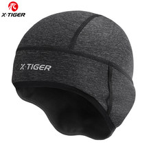 X-TIGER Man Winter Windproof Thermal Fleece Cycling Cap Running Skiing Motocycle Riding Head Hat Woman MTB Bike Cycling Headwear(China)