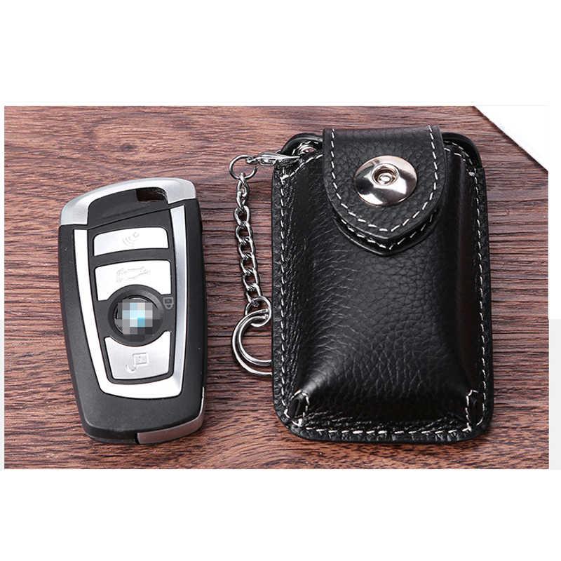 Riem Dragen Lederen Smart Key Holder Taille Autosleutel Houder Magnetische Gesp Vintage Kleine Sleutel Tas Keysmart Zak Doos voor Sleutels