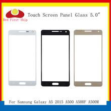 10Pcs/lot Touch Screen For Samsung Galaxy A5 2015 A500 A500F A500M Touch Panel Front Outer Glass Lens A5 Touchscreen LCD Glass scn a5 flt15 0 z02 0h1 r 15 inch touch glass panel new