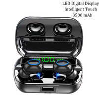 Tws 5,0 auriculares 3500 mAh banco de energía Bluetooth auriculares inalámbricos Touch In Ear auriculares impermeables con micrófono auricular fone