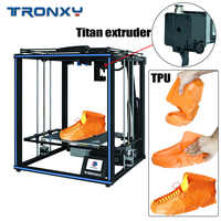 2019 New upgraded Tronxy 3D Printer X5SA PRO 24V Big Print Size Industrial Manufacturer Guiderail FDm Auto leveling 3D Machine