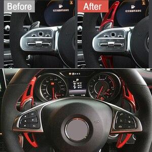 Image 4 - עבור מרצדס בנץ AMG A45 C63 CLA45 GLE GLA CLS GLS W205 W213 רכב הגה ההנעה Shift Shifters הארכת DSG רכב מדבקה