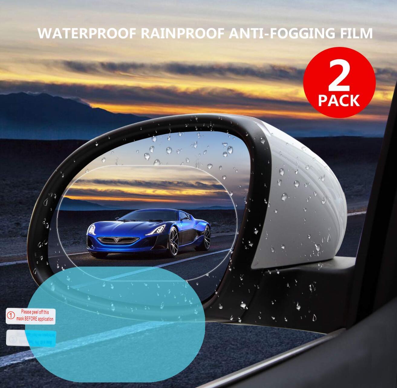 2 шт. противотуманная пленка заднего вида зеркальная защитная пленка для автомобиля анти-дождь противотуманная пленка авто зеркало заднего...