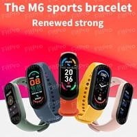2021 nueva banda M6 pulsera reloj inteligente Monitor de presión arterial Fitness Color pantalla Smartwatch reloj inteligente horas para Xiaomi #3