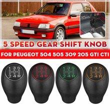 Para peugeot 504 505 309 205 gti cti manual do deslocamento de engrenagem knob 5 velocidade alavanca shifter lidar com vara plástico acessórios do carro