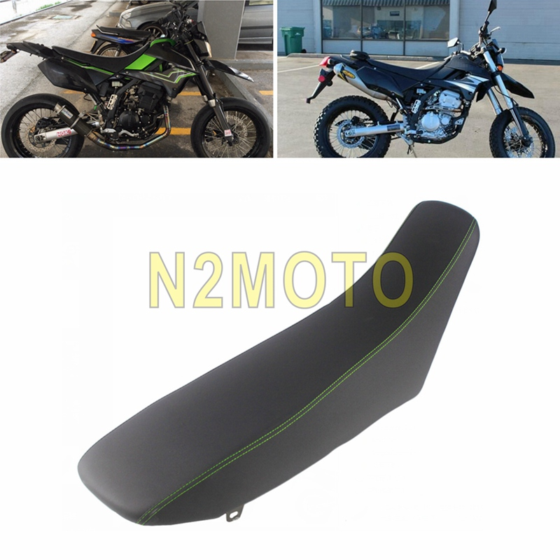 Coussins noirs de siège arrière de passager de conducteur de vélo de saleté de moto pour Kawasaki KLX250 2009-2019 assemblée de coussin de sièges de Motocross