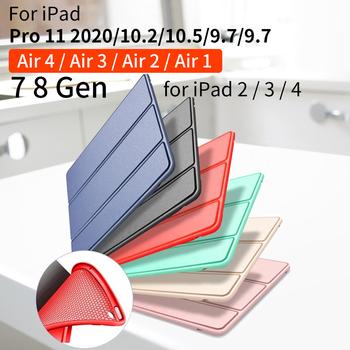 Dla iPad powietrza 2 powietrza 1 przypadku 2018 9 7 10 2 2019 Funda miękkie etui do ipada 6th 7th generacji etui do ipada 2 3 4 Mini 1 2 3 4 5 tanie i dobre opinie GOOJODOQ Składany folio case 9 7 CN (pochodzenie) for ipad Pro 2020 case Stałe 17cm Dla apple ipad iPad Air 2 Moda for ipad air Case