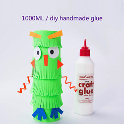 pva glue white latex student diy floral glue 1l school manual paper cutting quick-drying glue office school supplies