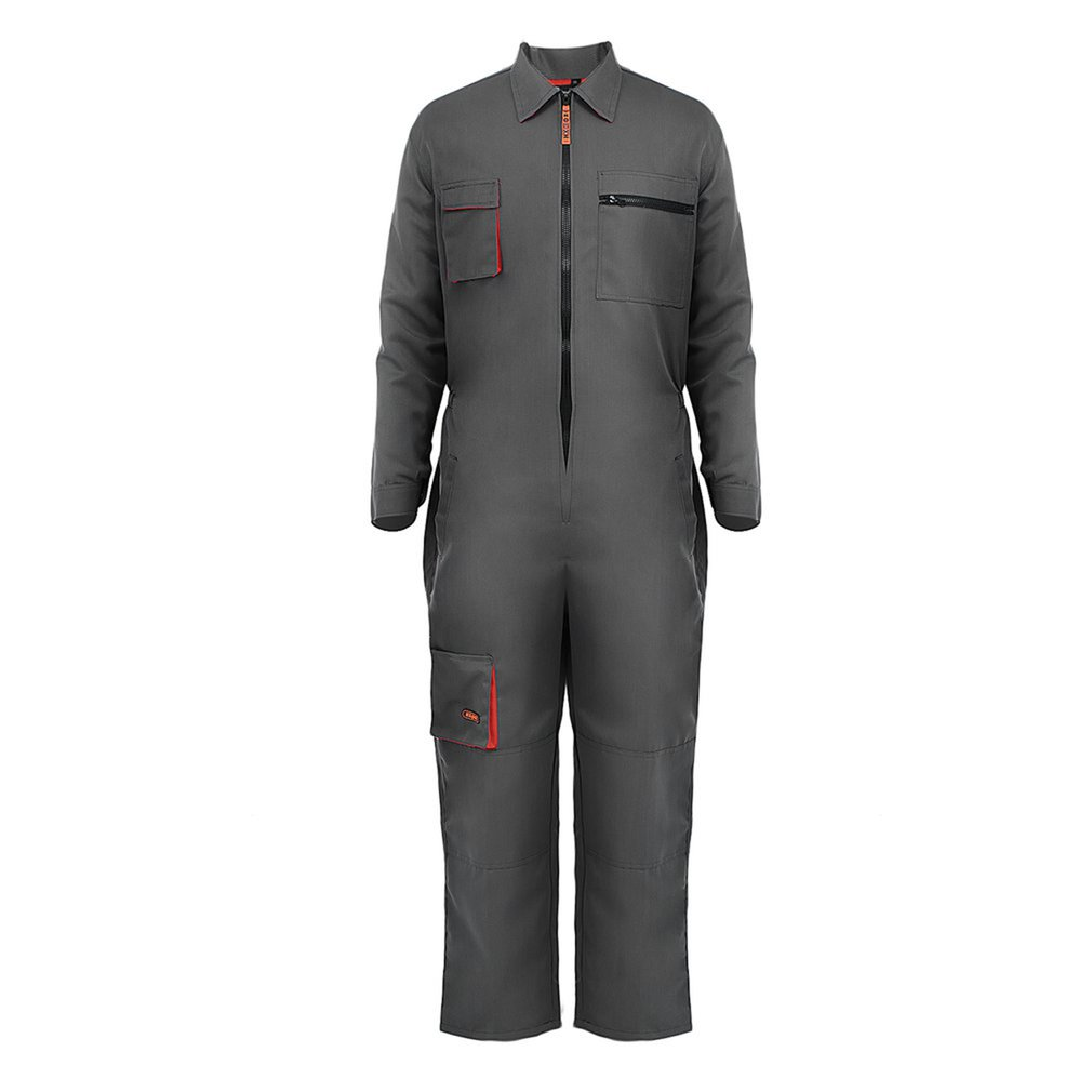 Long Sleeve Pockets Overalls Casual Jumpsuit Pants Workshop Working Clothes Dust-proof Protection Clothing