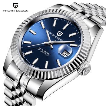 PAGANI Design męskie zegarki Top marka luksusowy zegarek męski zegarek mechaniczny wodoodporny automatyczny zegarek NH35A ze stali nierdzewnej tanie i dobre opinie 10Bar CN (pochodzenie) Zapięcie bransolety Moda casual Mechaniczna nakręcana wskazówka Samoczynny naciąg 22cm STAINLESS STEEL