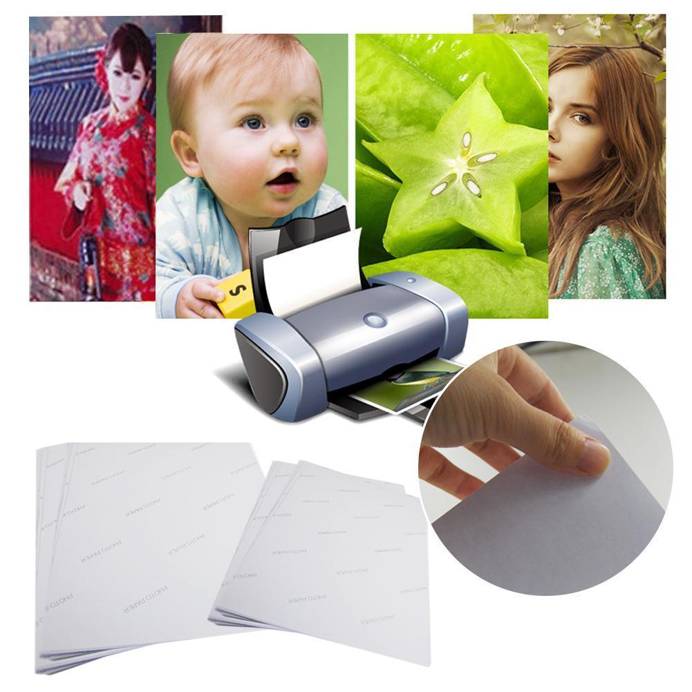 50 Sheets/pack Or 100 Sheets/pack Photo Paper High Papel Fotografico Spray Adhesive Photo Glossy Self Adesivo Paper Papel C A8G7