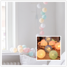 20leds Cotton Ball Christmas Garland String Lights Fairy Lighting Strings for Outdoor Holiday Home Wedding Xmas Party Decoration